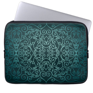 Dekorativt mönster för blåttarabiska laptop sleeve