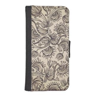 Dekorativt mönsterplånbokfodral iPhone SE/5/5s plånboksfodral