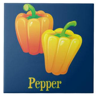Dekorativt pepparkök belägger med tegel kakelplatta