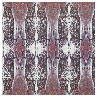 Dekorativt spegelförsett ugglamönster tyg