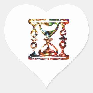 Dekorativt timmeexponeringsglas - Sparkling röd Hjärtformat Klistermärke