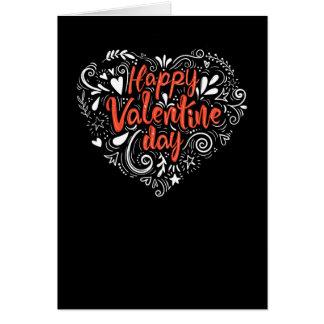 Dekorativt valentinhälsningkort hälsningskort