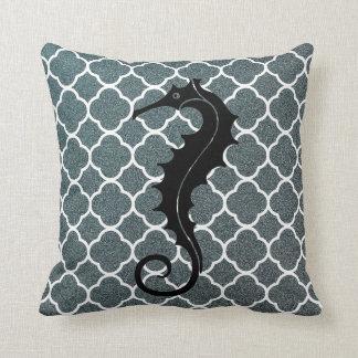 Dekoren för hästen för grå färgvithavet kudder den kudde