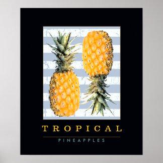 dekorera med frukter. ananas poster
