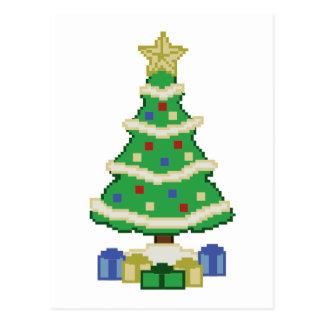 Dekorerad videospelstil för julgran 8bit