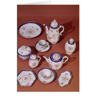 Del av en tjänste- Worcester monogrammed tea Hälsningskort