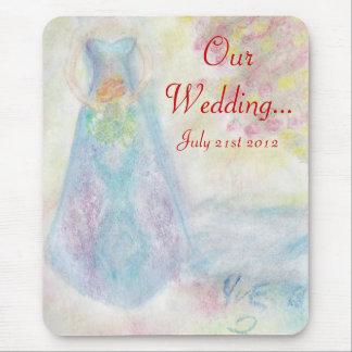 Dela detta speciella dagbröllop mus mattor