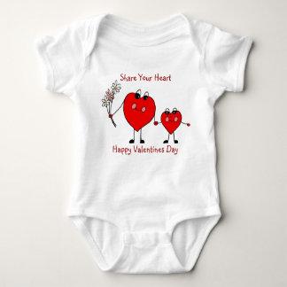 Dela din ranka för hjärtavalentinesspädbarn tee