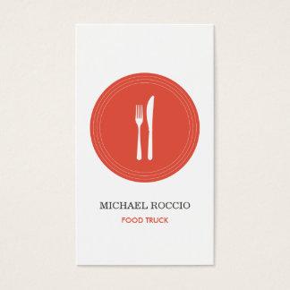 Dela sig & baktala logotypen för restaurangen, visitkort