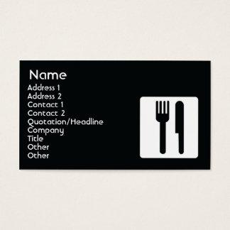 Dela sig och baktala - affären visitkort