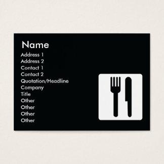 Dela sig och baktala - knubbiget visitkort