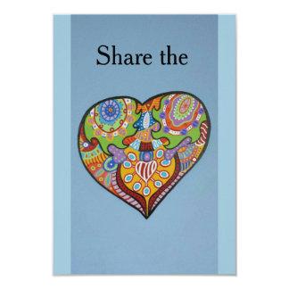 Delaa kärlek 8,9 x 12,7 cm inbjudningskort