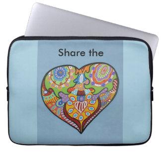 Delaa kärlek laptop sleeve