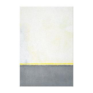 """""""Delad"""" abstrakt konst för grå färg och för gult Canvastryck"""
