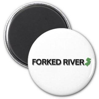 Delad flod som är ny - jersey magnet