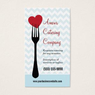 Delad hjärtarestaurang/cateringvisitkort visitkort