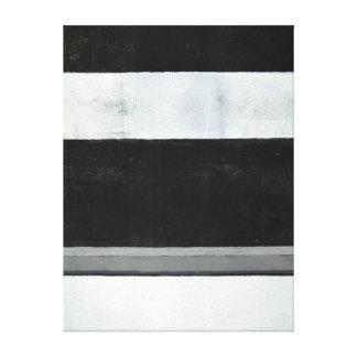 """""""Delad"""" svartvit abstrakt konst Canvastryck"""