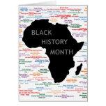 Delar av historia BHM Notecards Hälsnings Kort