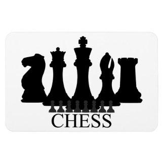 Delar magnet för schack