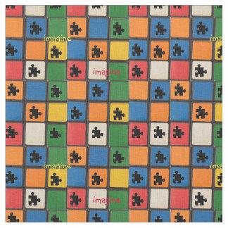 Delar mosaik för Autismmedvetenhetpussel Tyg
