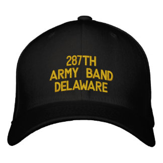 Delaware 287. armémusikband broderad keps