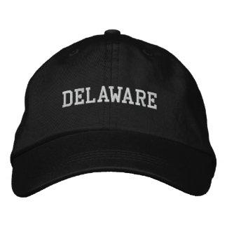 Delaware broderade justerbar locksvart broderad keps