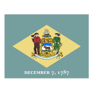 Delaware flagga vykort
