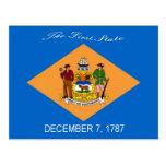 Delaware flaggavykort vykort
