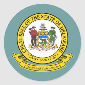 Delaware förseglar runt klistermärke