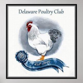 Delaware höna klubbar affischen poster