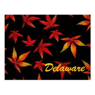 Delaware höst lövvykort vykort