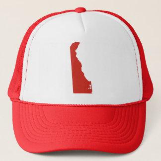 Delaware kopplar ihop röd statlig plötslig baksida truckerkeps