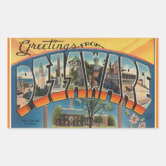 Delaware lakan av 4 Delaware klistermärkear Rektangulärt Klistermärke