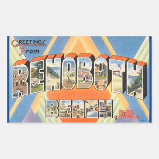 Delaware lakan av 4 Rehoboth Bch. klistermärkear Rektangulärt Klistermärke