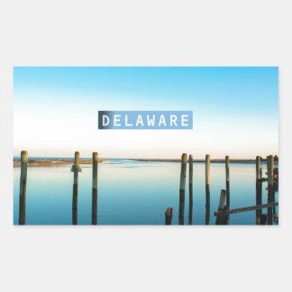 Delaware. Rektangulärt Klistermärke