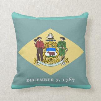 Delaware statlig flagga kudde