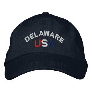 Delaware USA broderade marinhatten Broderad Keps