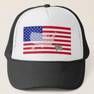 Delaware USA Truckerkeps