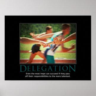 DelegationDemotivational affisch Poster
