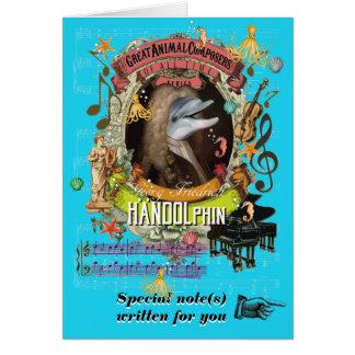 Delfin för Handel parodiHandolphin djur kompositör Hälsningskort