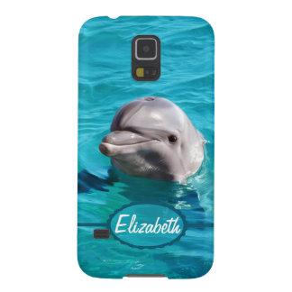 Delfin i blåttvattenfoto galaxy s5 fodral