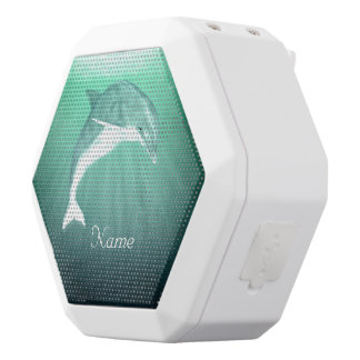 Delfin i smaragdhavet vit bluetooth högtalare