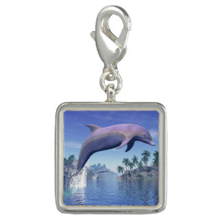 Delfin i tropikernan - 3D framför Charm