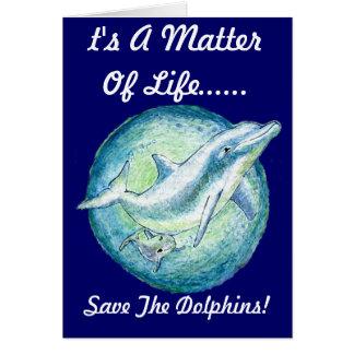 """Delfin mor & kalv"""" noterar kortet OBS kort"""
