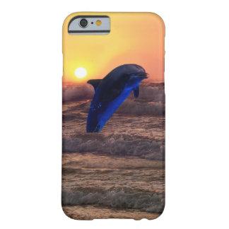 Delfin på solnedgången barely there iPhone 6 skal