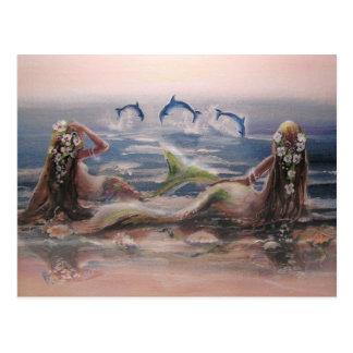 Delfin- & sjöjungfruvykort vykort