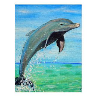 Delfin Vykort