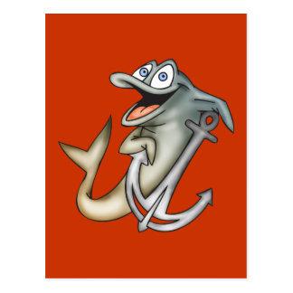 Delfinen ankrar vykort