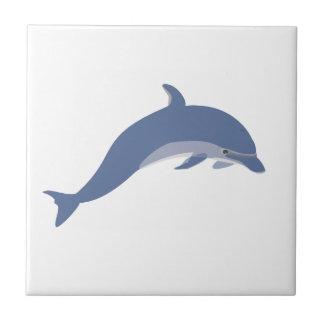 Delfinen belägger med tegel liten kakelplatta