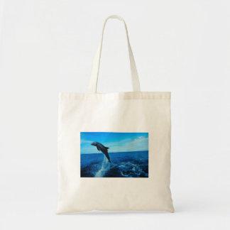 Delfinen hänger lös budget tygkasse